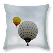 Dueling Balloons 2 Throw Pillow