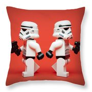 Dueling Troopers Throw Pillow
