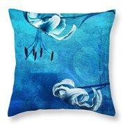Duet - Blue03 Throw Pillow