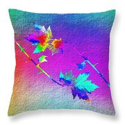 Duet In The Treetops Throw Pillow