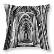 Duke Chapel Arches Throw Pillow