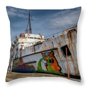 Duke Of Graffiti Throw Pillow