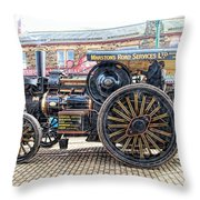 Duke Of York Traction Engine 6 Throw Pillow