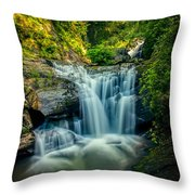 Dukes Creek Falls Throw Pillow