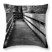 Dukes Creek Falls Walkway Throw Pillow