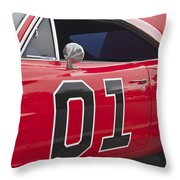 Dukes Of Hazard General Lee Throw Pillow
