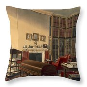 Dukes Own Room, Apsley House, By T. Boys Throw Pillow