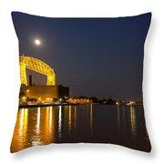 Duluth Aerial Lift Bridge Throw Pillow