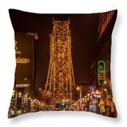 Duluth Lake Avenue Throw Pillow