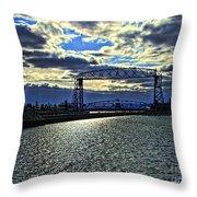 Duluth Lift Bridge Throw Pillow