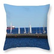 Duluth Mn Harbor Throw Pillow