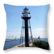 Duluth Mn Lighthouses  Throw Pillow