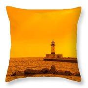 Duluth N Pier Lighthouse 41 A Throw Pillow