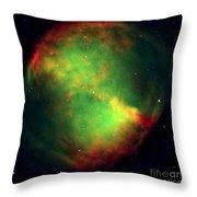 Dumbbell Nebula Throw Pillow