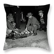 Dumping Whiskey In Mississippi 1951 Throw Pillow