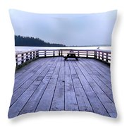 West Vancouver Dundarave Triptych Centre Panel Throw Pillow
