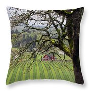 Dundee Hills Wine Country Throw Pillow