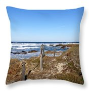 Dune Grass Throw Pillow by Barbara Snyder