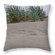 Dune Grass On Beach Dune Landscape Art Prints Throw Pillow