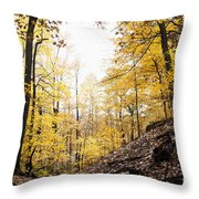Dune Land Forest Throw Pillow