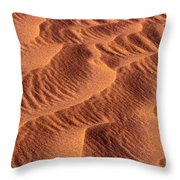 Dune Patterns - 242 Throw Pillow by Paul W Faust -  Impressions of Light