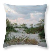 Dune Sea Oats Throw Pillow