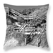 Dune Steps 02 Throw Pillow