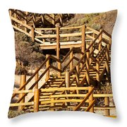Dune Steps 05 Throw Pillow