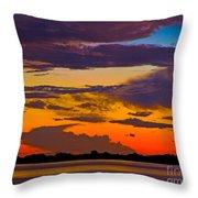Dunedin Causeway Sunset Throw Pillow