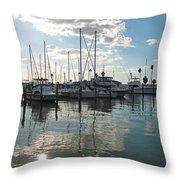 Dunedin Harbor Throw Pillow