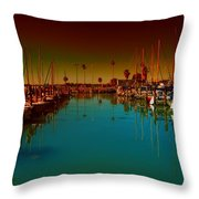 Dunedin Marina Throw Pillow