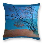 Lake Michigan Dunes Throw Pillow