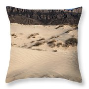 Dunes At The Guadalupes Throw Pillow