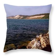 Dunes North Of Frankfort Michigan Throw Pillow
