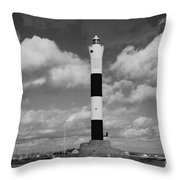 Dungeness Lighthouse Throw Pillow