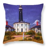 Dungeness Old Lighthouse Throw Pillow