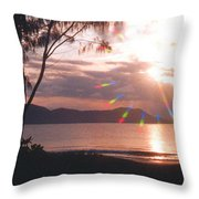 Dunk Island Australia Throw Pillow by Jerome Stumphauzer