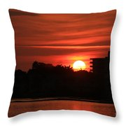 Dunlawton Sunrise Throw Pillow