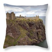 Dunnottar Castle Throw Pillow