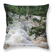 Dunns River Falls 2 Throw Pillow