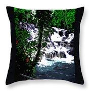 Dunns River Falls Jamaica Throw Pillow