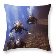 Dunraven Divers Throw Pillow