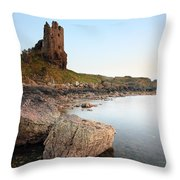 Dunure Castle Throw Pillow