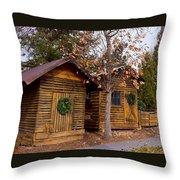 Dunwoody Farmhouse Cabins Throw Pillow