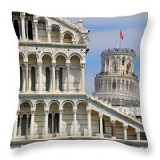 Duomo And Campanile Throw Pillow