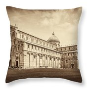 Duomo And Tower Throw Pillow