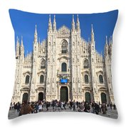 Duomo In Milano. Italy Throw Pillow by Antonio Scarpi