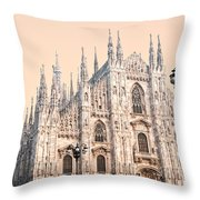 Duomo Of Milan Throw Pillow