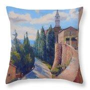 Duomo Pienza Throw Pillow