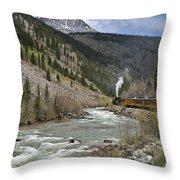 Durango And Silverton Rr Throw Pillow